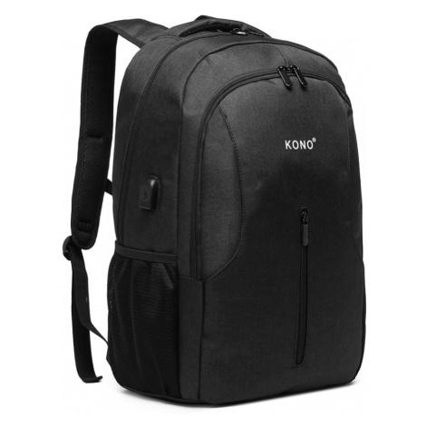 Černý praktický voděodolný batoh s USB portem James Lulu Bags