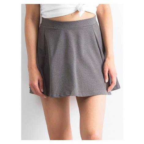 Dark gray flared mini skirt