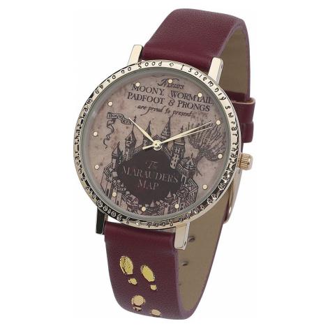 Harry Potter Marauder's Map Náramkové hodinky stríbrná
