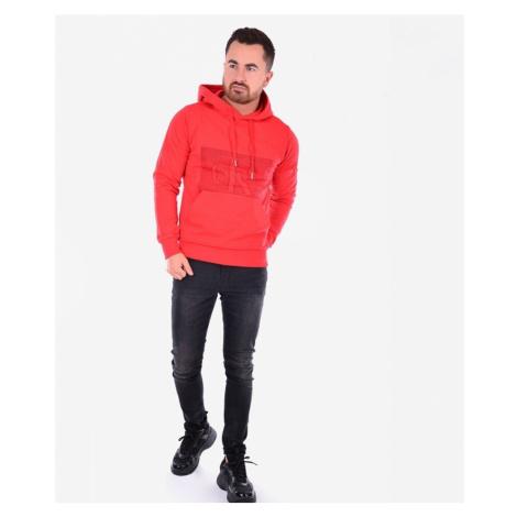 Calvin Klein pánská červená mikina s kapucí