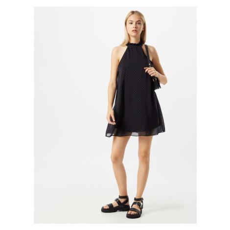 Trendyol Koktejlové šaty černá / bílá