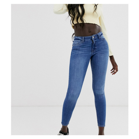 Miss Selfridge Mid Wash Skinny Jeans-Black