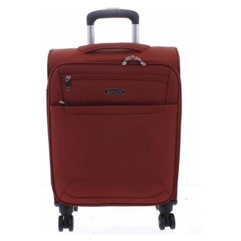 Nadčasový lehký látkový cestovní kufr červený - Menqite Timeless S