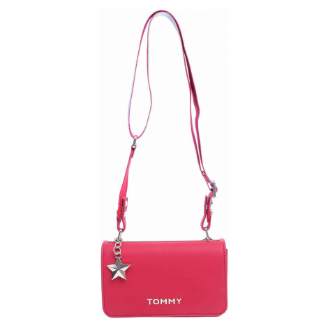 Tommy Hilfiger dámská kabelka AW0AW06438 614 tommy red-silver metallic