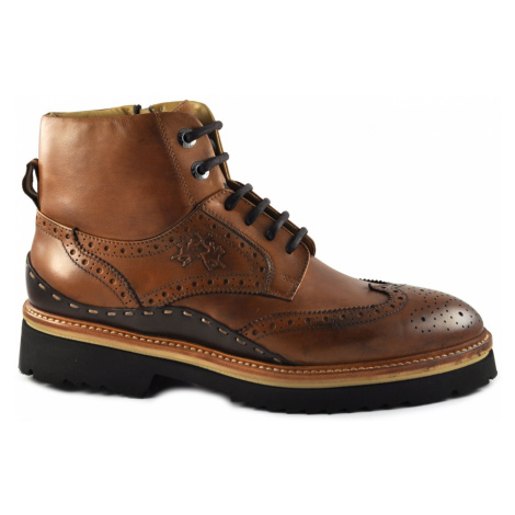 Kotníková Obuv La Martina Man'S Boot Canyon - Ohio Black - Hnědá