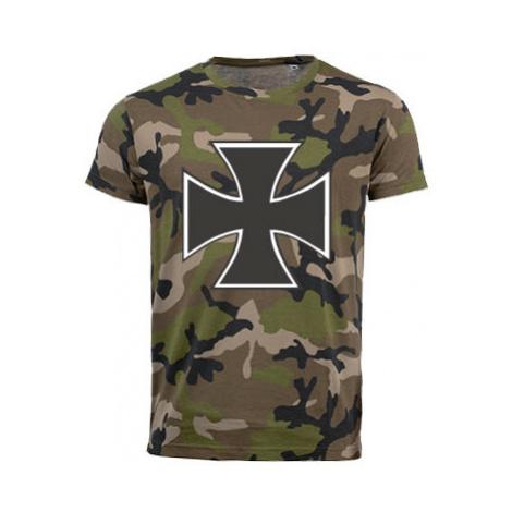 Pánské maskáčové tričko Železný kříž