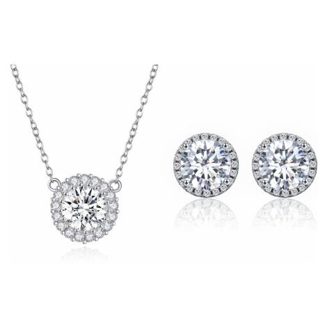 Linda's Jewelry Zvýhodněná sada šperků se zirkony Shiny Circle Ag 925/1000 IS020