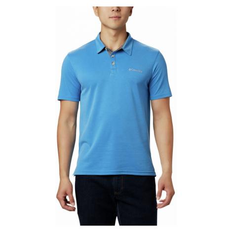Tričko Columbia Nelson Point™ Polo nadměrné velikosti - modrá 4X