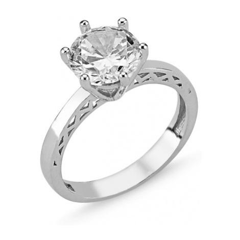 OLIVIE Stříbrný prsten se zirkonem 2072