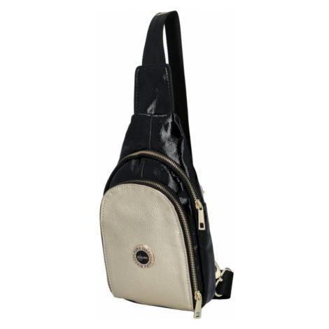 Dámský batoh Laura Biaggi Stylish, černo/zlatá