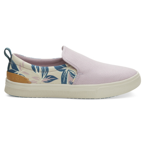 Burnished Lilac Floral Print/Canvas Women TRVL Lite Slip-On Toms