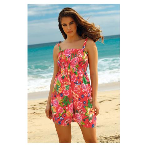 Plážové šaty Leafy Coral Ysabel Mora