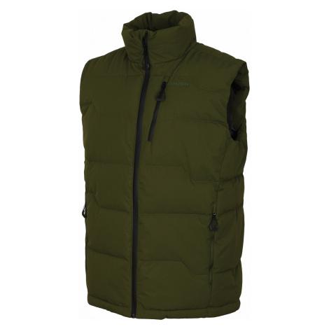 Husky Deep M, tm. zelená Pánská péřová vesta