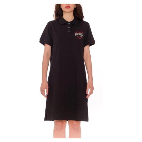 Černé šaty - LOVE MOSCHINO