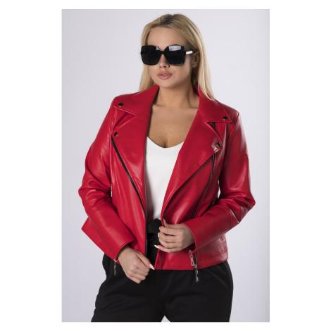 eco-leather biker jacket Ptakmoda