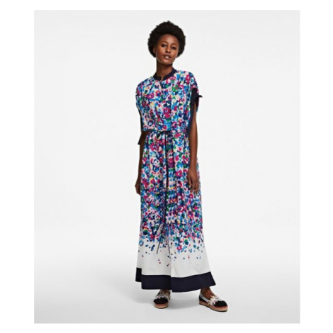 Šaty Karl Lagerfeld Degrade Printed Maxi Dress - Různobarevná