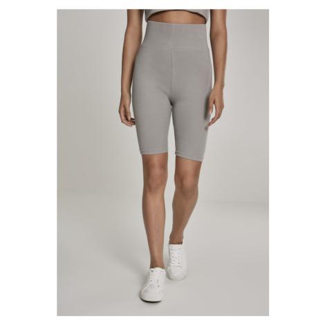 Ladies High Waist Cycle Shorts - green/grey Urban Classics