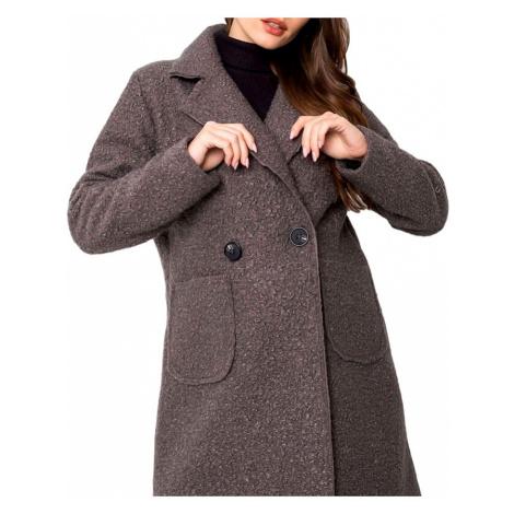 šedý lehký teddy kabátek BASIC