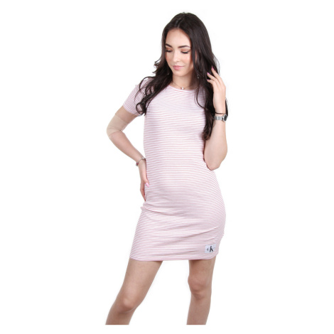 Calvin Klein dámské bílé šaty s proužkem