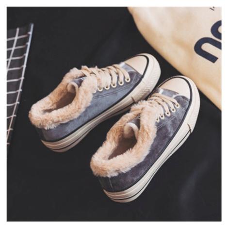 Dámské zimní tenisky s hvězdou sněhové boty s kožíškem