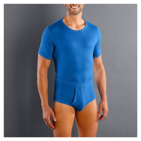 Blancheporte Spodní tričko s kulatým výstřihem, sada 3 ks modrá