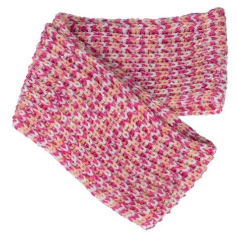 Lewro PRUNELLA růžová - Dívčí pletená šála