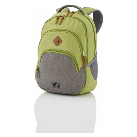 Travelite Městský batoh Basics Backpack Melange Green/grey 96308-80 22 l