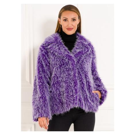 Dámský yetti krátký kabát - fialová Glamorous
