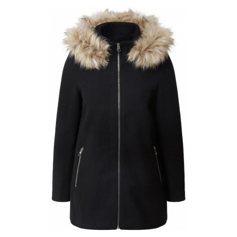 VERO MODA Zimní kabát černá / světle hnědá