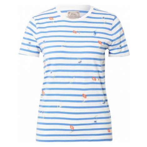 POLO RALPH LAUREN Tričko královská modrá / bílá / oranžová