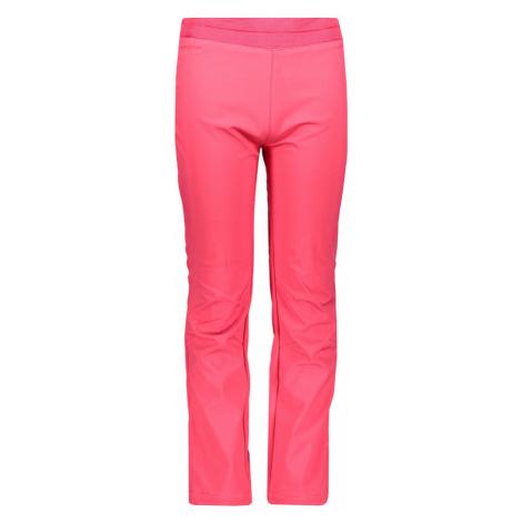 Dětské softshellové kalhoty Alpine Pro OCIO INS. - tmavě růžová
