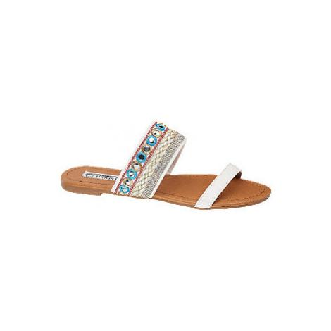 Bílé pantofle Claudia Ghizzani