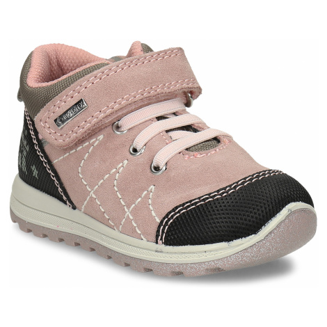 Růžová kožené dětská a obuv v outdoorovém stylu Primigi