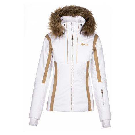 KILPI Dámská vyhřívaná lyžařská bunda - větší velikosti MIRSEL-W NLX023KIWHT Bílá