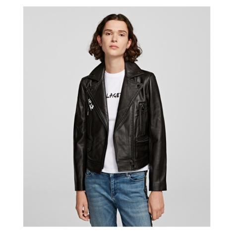 Bunda Karl Lagerfeld Karl Forever Biker Jacket - Černá