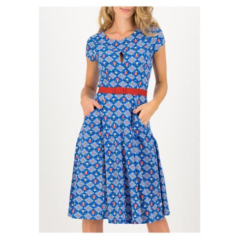 Letní šaty s krátkým rukávem modré Blutsgeschwister Zářící bohyně