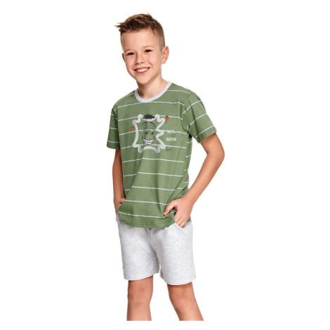 Chlapecké pyžamo Karlík zelené s pruhy Taro