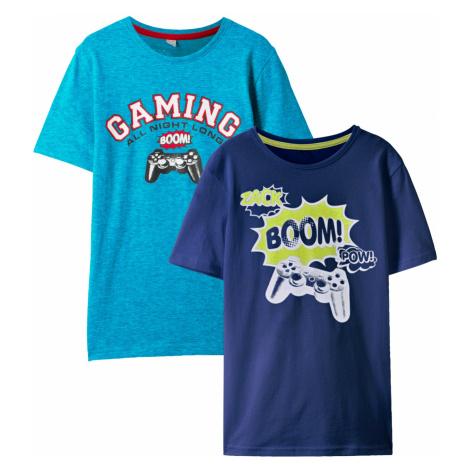 Tričko pro chlapce z organické bavlny (2 ks v balení) Bonprix