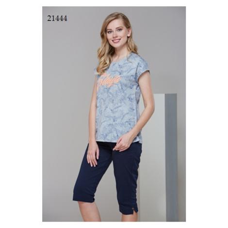 Dámské pyžamo (krátké rukávy/kapri kalhoty) 21444
