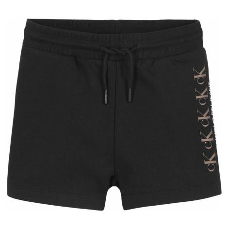 Calvin Klein Jeans CK REPEAT FOIL KNIT SHORTS Černá