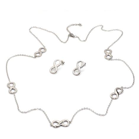 Linda's Jewelry Sada šperků Nekonečno chirurgická ocel IS031