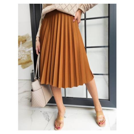 VIRGIN pleated skirt, camel CY0225