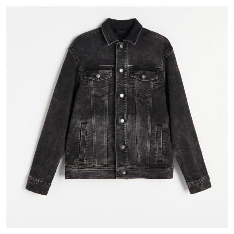 Reserved - Džínová krátká bunda s kapsami - Černý