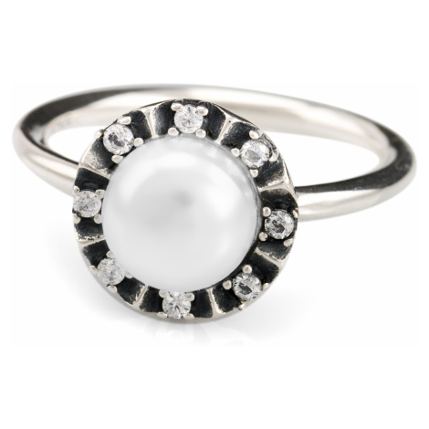 Linda's Jewelry Stříbrný prsten Perla IPR011 Velikost: 54
