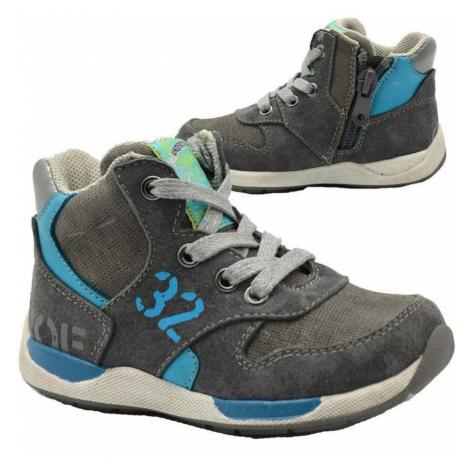 Šedé chlapecké celoroční boty Hester Pidilidi