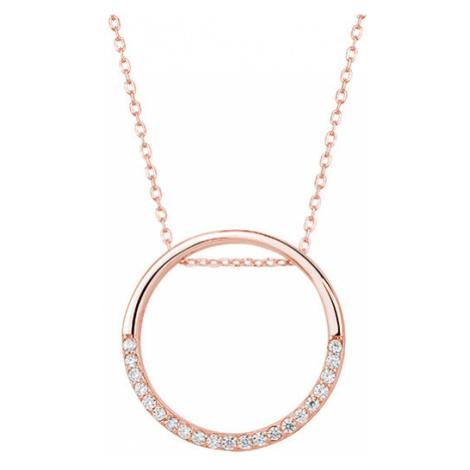 OLIVIE Stříbrný náhrdelník KRUH ROSE 4537