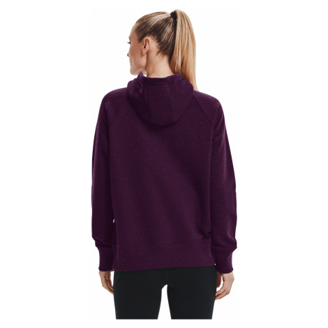 Under Armour W Rival Fleece Logo Hoodie Purple/ Meteor Pink