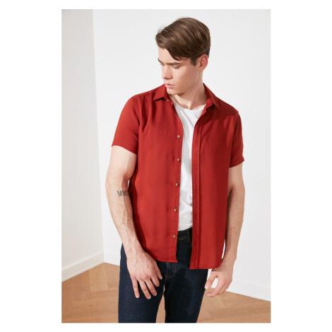 Trendyol Tile Men's Regular Fit Shirt Collar Short Sleeve Fish shirt
