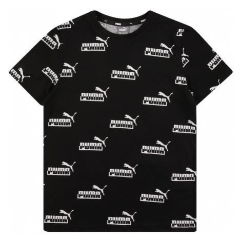 PUMA Tričko černá / bílá