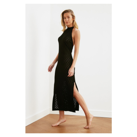 Trendyol Black Knitted Beach Dress